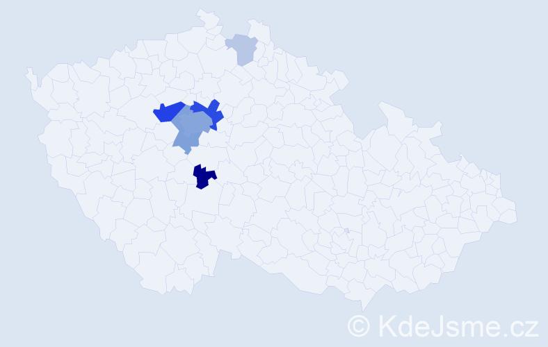Příjmení: 'Inneman', počet výskytů 26 v celé ČR