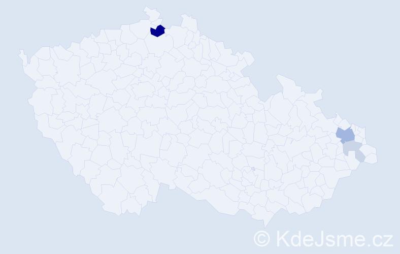 Příjmení: 'Fabíni', počet výskytů 10 v celé ČR