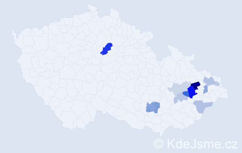 Příjmení: 'Enenklová', počet výskytů 25 v celé ČR
