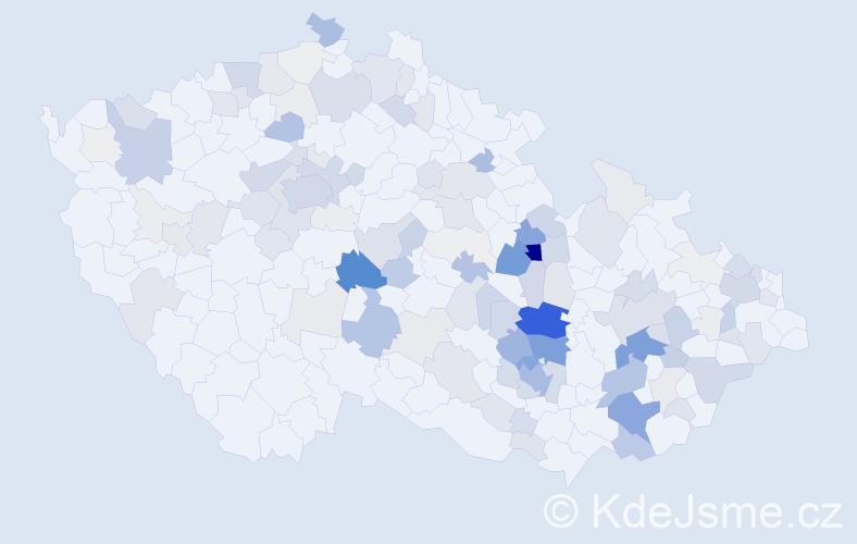 Příjmení: 'Borek', počet výskytů 560 v celé ČR