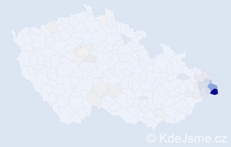 Příjmení: 'Bulawa', počet výskytů 146 v celé ČR