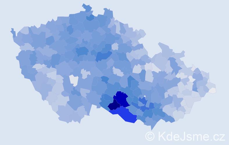 Příjmení: 'Svoboda', počet výskytů 25365 v celé ČR