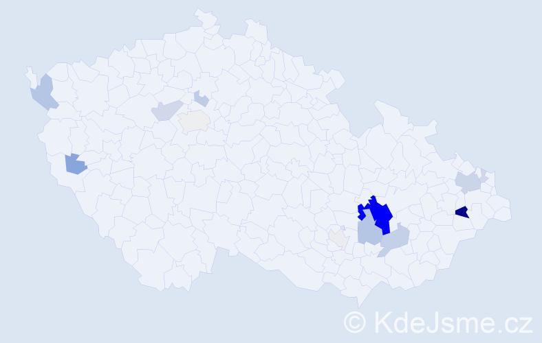 Příjmení: 'Blumenstein', počet výskytů 46 v celé ČR