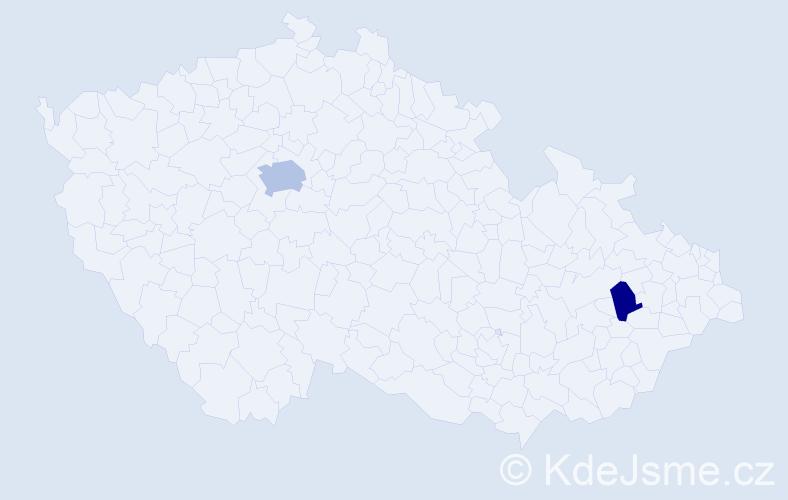 Příjmení: 'Kesselová', počet výskytů 7 v celé ČR