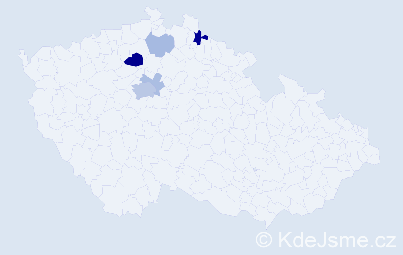 Příjmení: 'Cimoradský', počet výskytů 14 v celé ČR