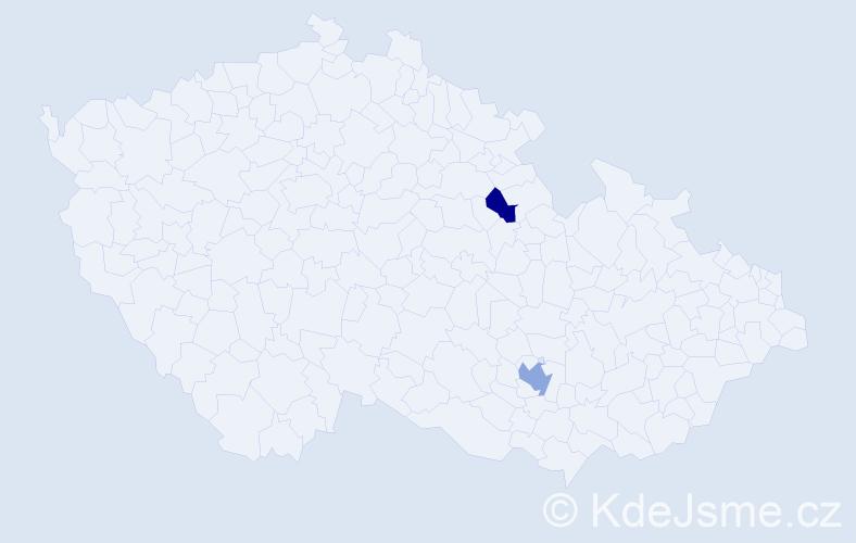 Příjmení: 'Glazunova', počet výskytů 3 v celé ČR