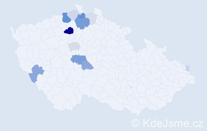 Příjmení: 'Kadraba', počet výskytů 35 v celé ČR