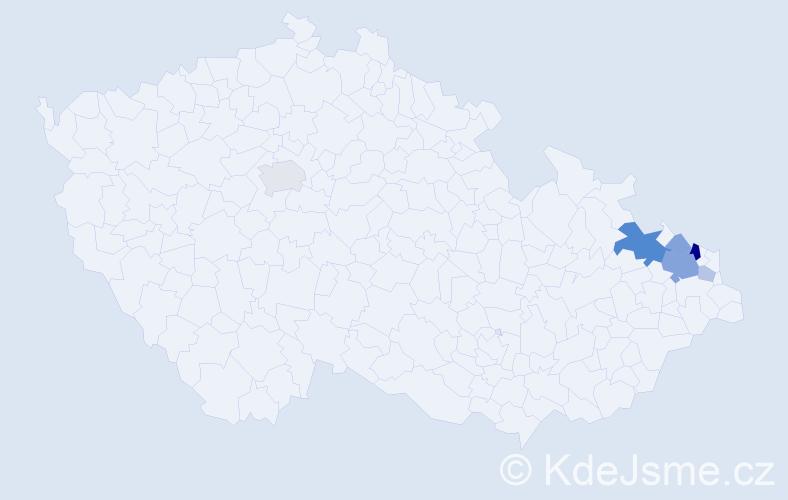 Příjmení: 'Babicz', počet výskytů 16 v celé ČR