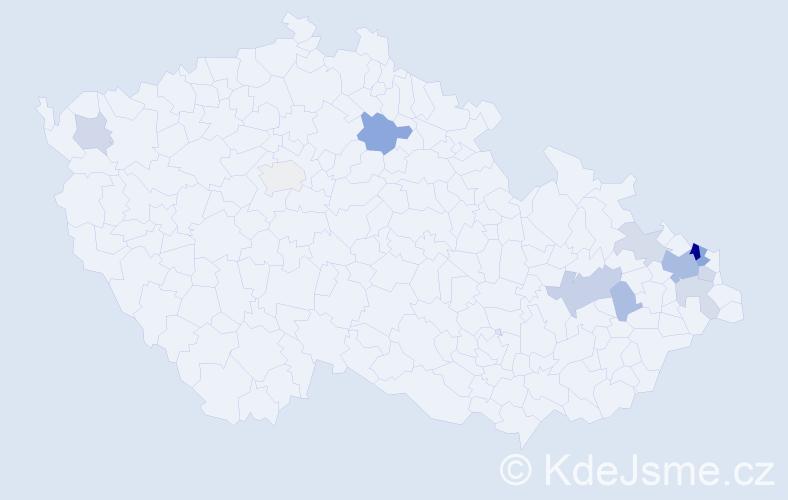 Příjmení: 'Dobrocký', počet výskytů 24 v celé ČR