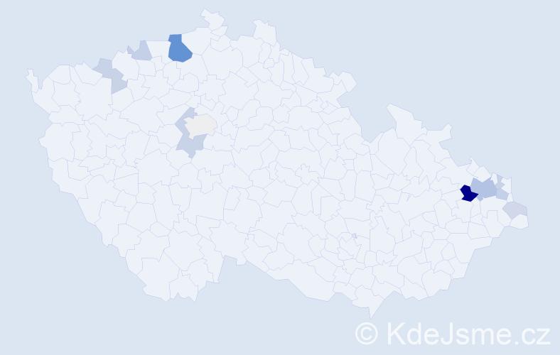 Příjmení: 'Dobosz', počet výskytů 33 v celé ČR
