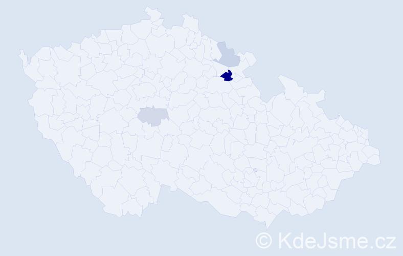Příjmení: 'Emlar', počet výskytů 16 v celé ČR