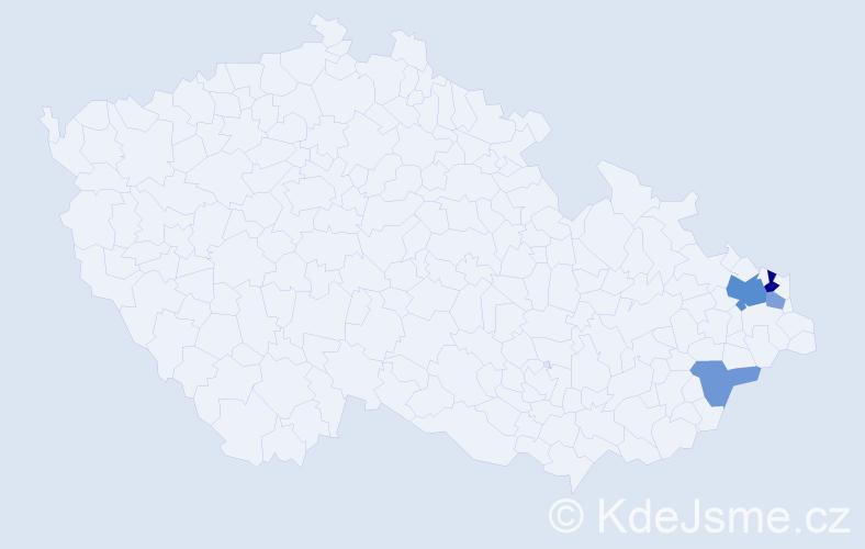 Příjmení: 'Lenčíková', počet výskytů 8 v celé ČR