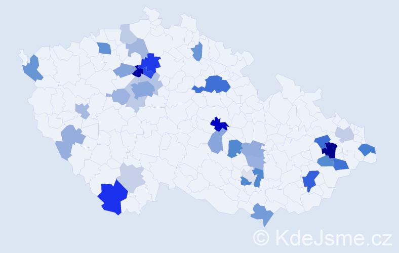 Příjmení: 'Lvová', počet výskytů 80 v celé ČR