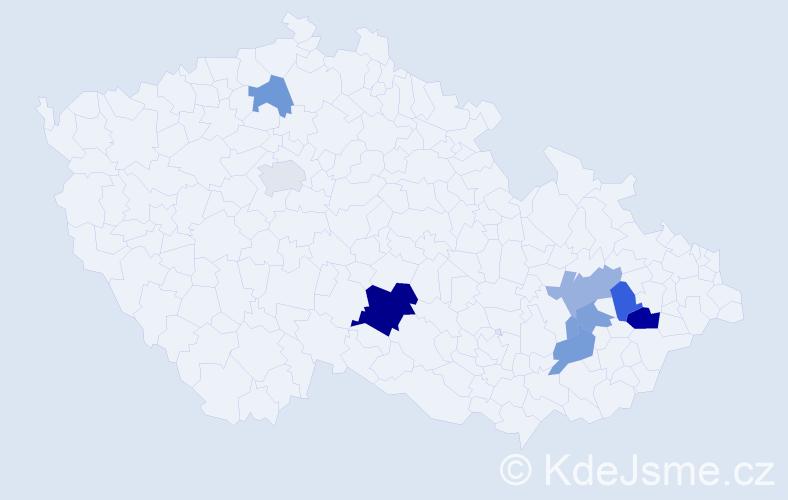 Příjmení: 'Leinertová', počet výskytů 12 v celé ČR
