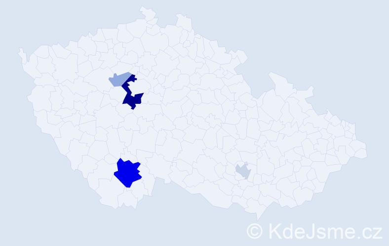 Příjmení: 'Jakovljevič', počet výskytů 12 v celé ČR