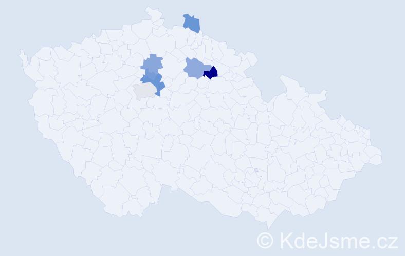 Příjmení: 'Inquortová', počet výskytů 11 v celé ČR