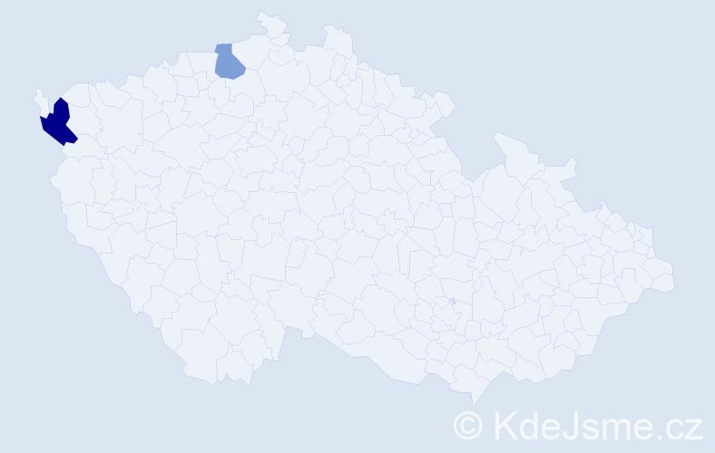 Příjmení: 'Irlwegová', počet výskytů 3 v celé ČR