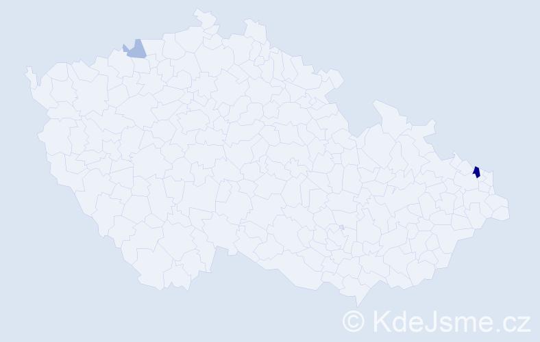 Příjmení: 'Gallík', počet výskytů 6 v celé ČR