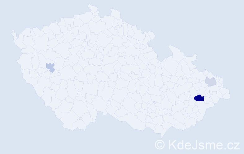 Příjmení: 'Federmann', počet výskytů 5 v celé ČR