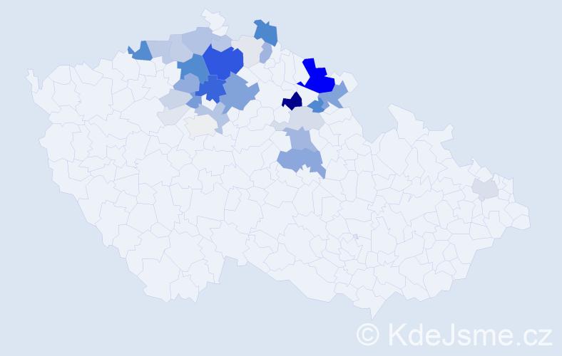 Příjmení: 'Efler', počet výskytů 120 v celé ČR