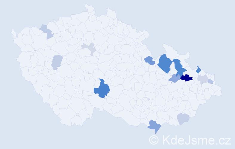 Příjmení: 'Balaj', počet výskytů 36 v celé ČR