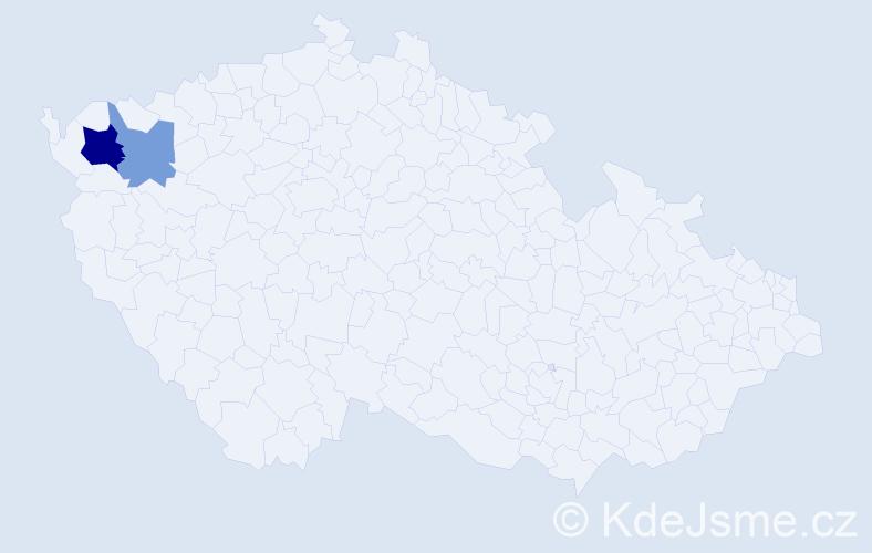 Příjmení: 'Krassa', počet výskytů 16 v celé ČR