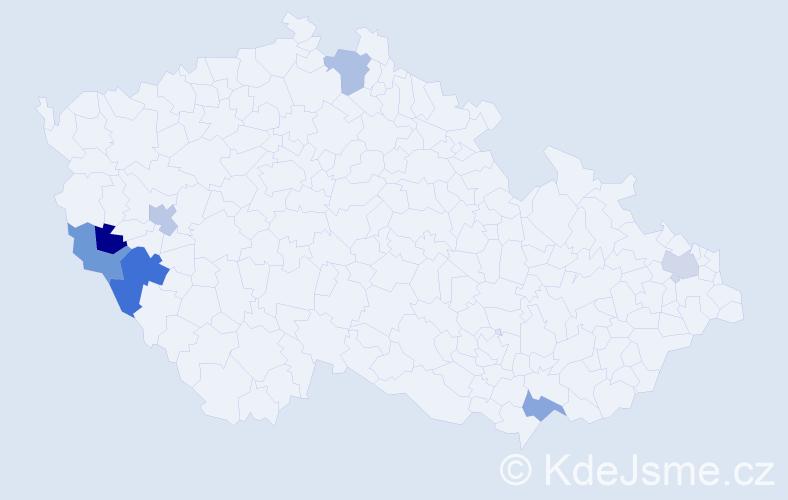 Příjmení: 'Hujsa', počet výskytů 8 v celé ČR