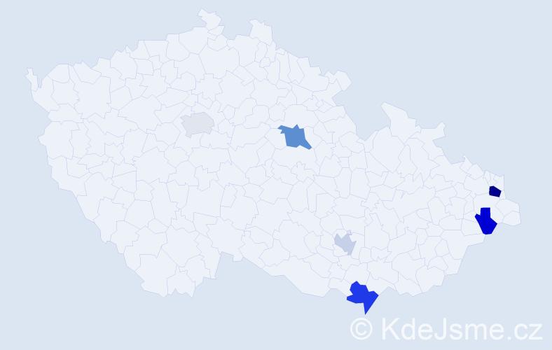 Příjmení: 'Lenčo', počet výskytů 11 v celé ČR