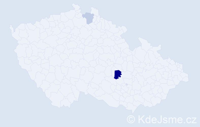 Příjmení: 'Conradová', počet výskytů 3 v celé ČR