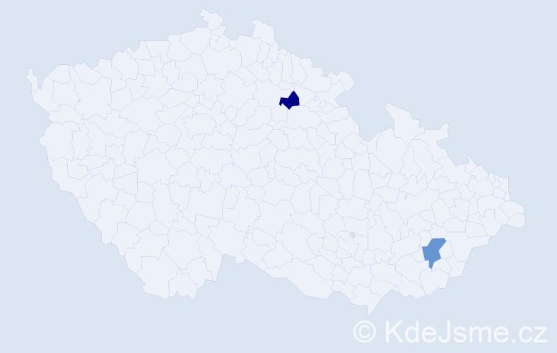 Příjmení: 'Halbsgut', počet výskytů 8 v celé ČR