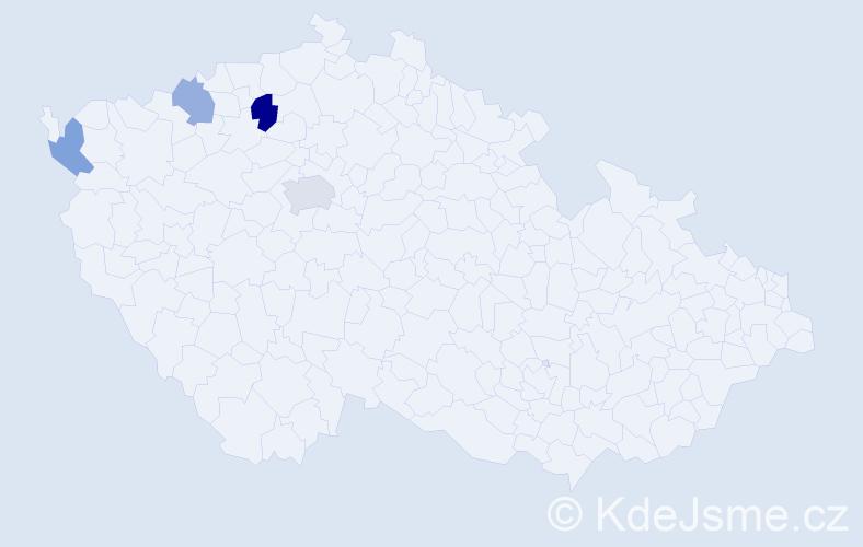 Příjmení: 'Ištvaník', počet výskytů 6 v celé ČR