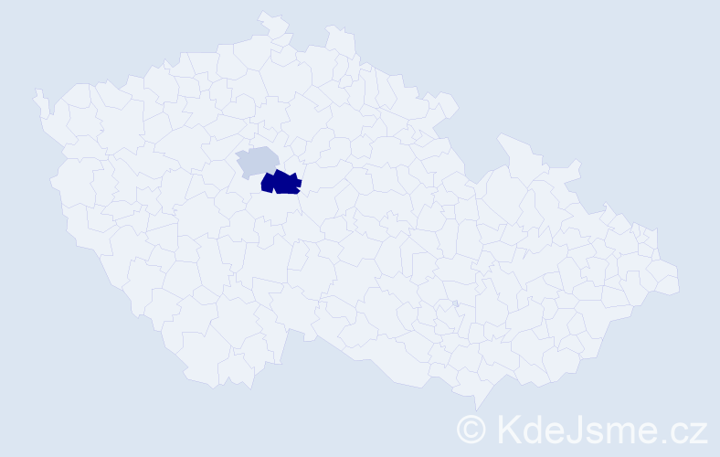 Příjmení: 'Bocheňski', počet výskytů 2 v celé ČR