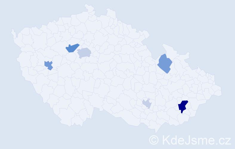 Příjmení: 'Guzman', počet výskytů 13 v celé ČR