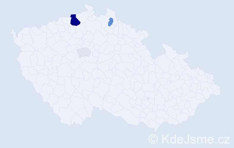 Příjmení: 'Čvirková', počet výskytů 6 v celé ČR