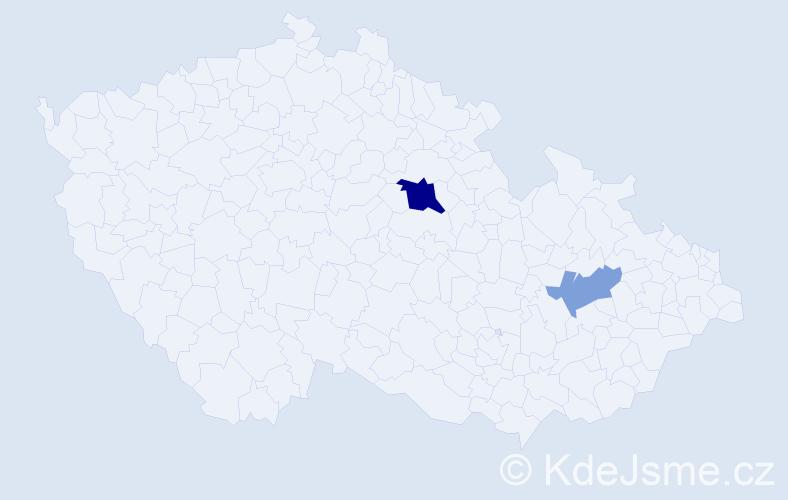 Příjmení: 'Isakova', počet výskytů 4 v celé ČR