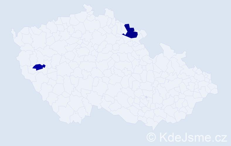 Příjmení: 'Bočarov', počet výskytů 4 v celé ČR