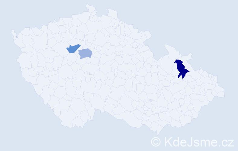 Příjmení: 'Hanlon', počet výskytů 5 v celé ČR