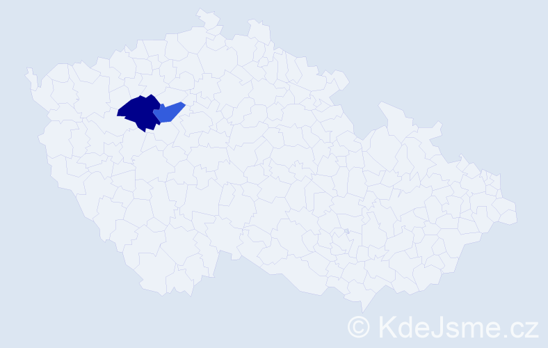 Příjmení: 'Bromský', počet výskytů 2 v celé ČR