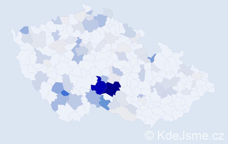 Příjmení: 'Háva', počet výskytů 295 v celé ČR