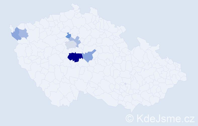 Příjmení: 'Fantys', počet výskytů 13 v celé ČR