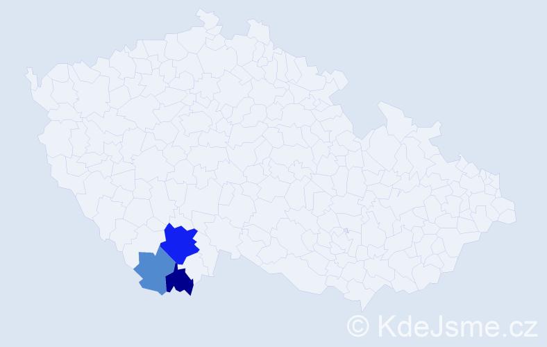 Příjmení: 'Galeštok', počet výskytů 6 v celé ČR