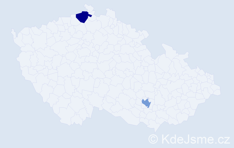 Příjmení: 'Laporčáková', počet výskytů 6 v celé ČR