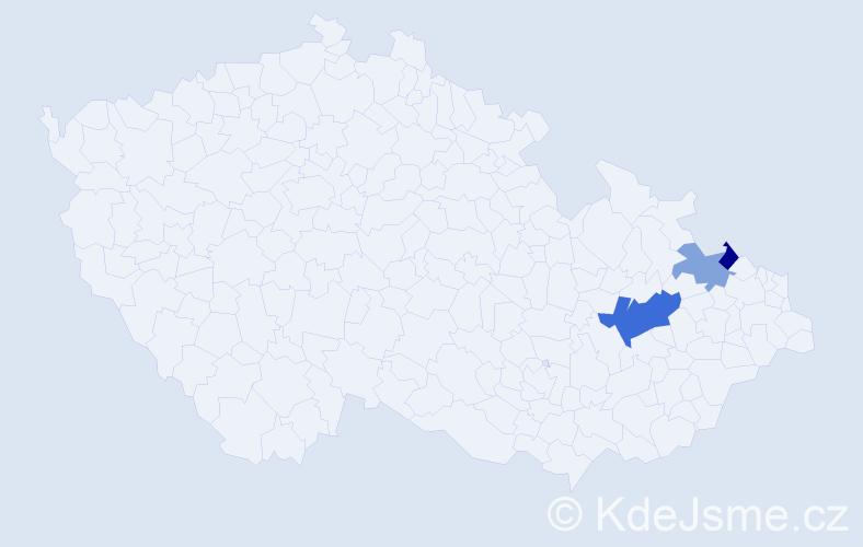 Příjmení: 'Eichertová', počet výskytů 5 v celé ČR
