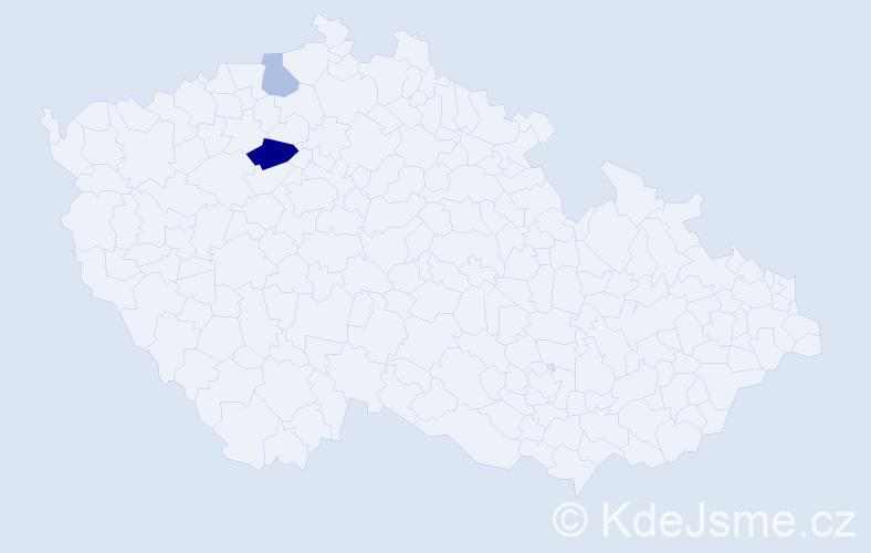 Příjmení: 'Isopová', počet výskytů 8 v celé ČR