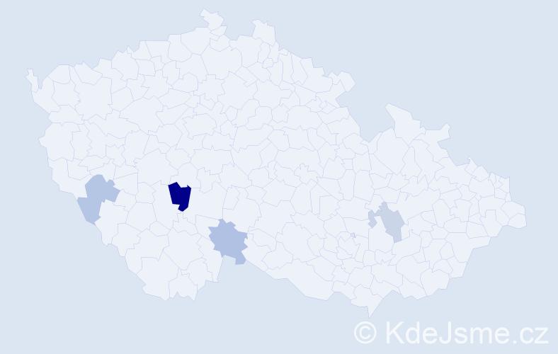 Příjmení: 'Borg', počet výskytů 6 v celé ČR