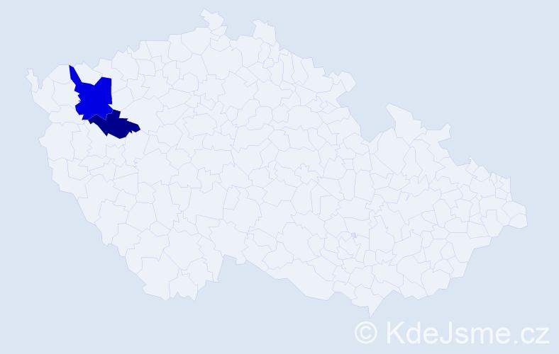 Příjmení: 'Čokota', počet výskytů 4 v celé ČR