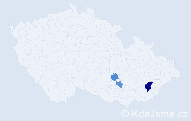 Příjmení: 'Bubrinka', počet výskytů 14 v celé ČR