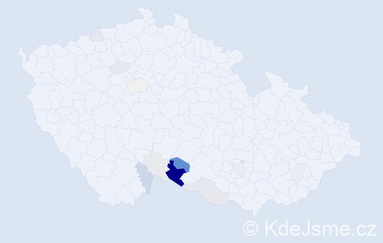 Příjmení: 'Fabeš', počet výskytů 40 v celé ČR