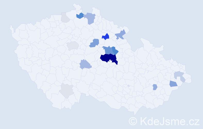 Příjmení: 'Elichová', počet výskytů 56 v celé ČR