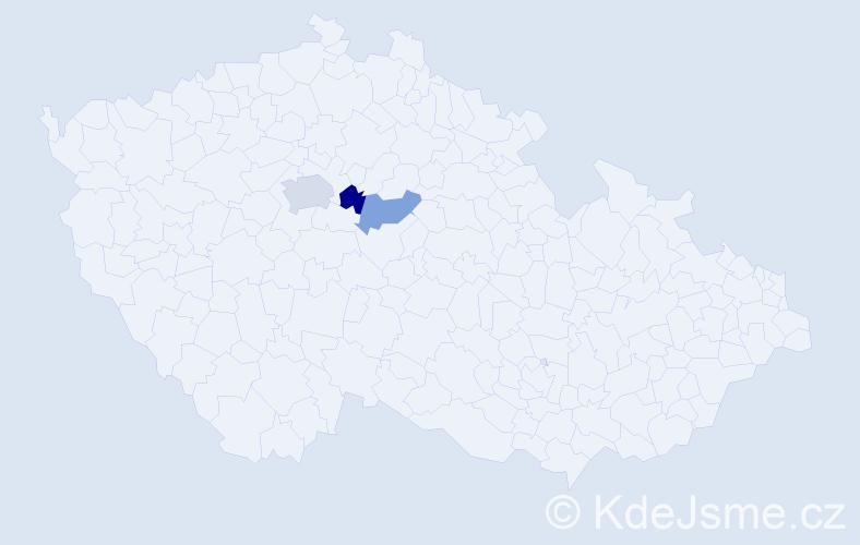Příjmení: 'Czadková', počet výskytů 4 v celé ČR